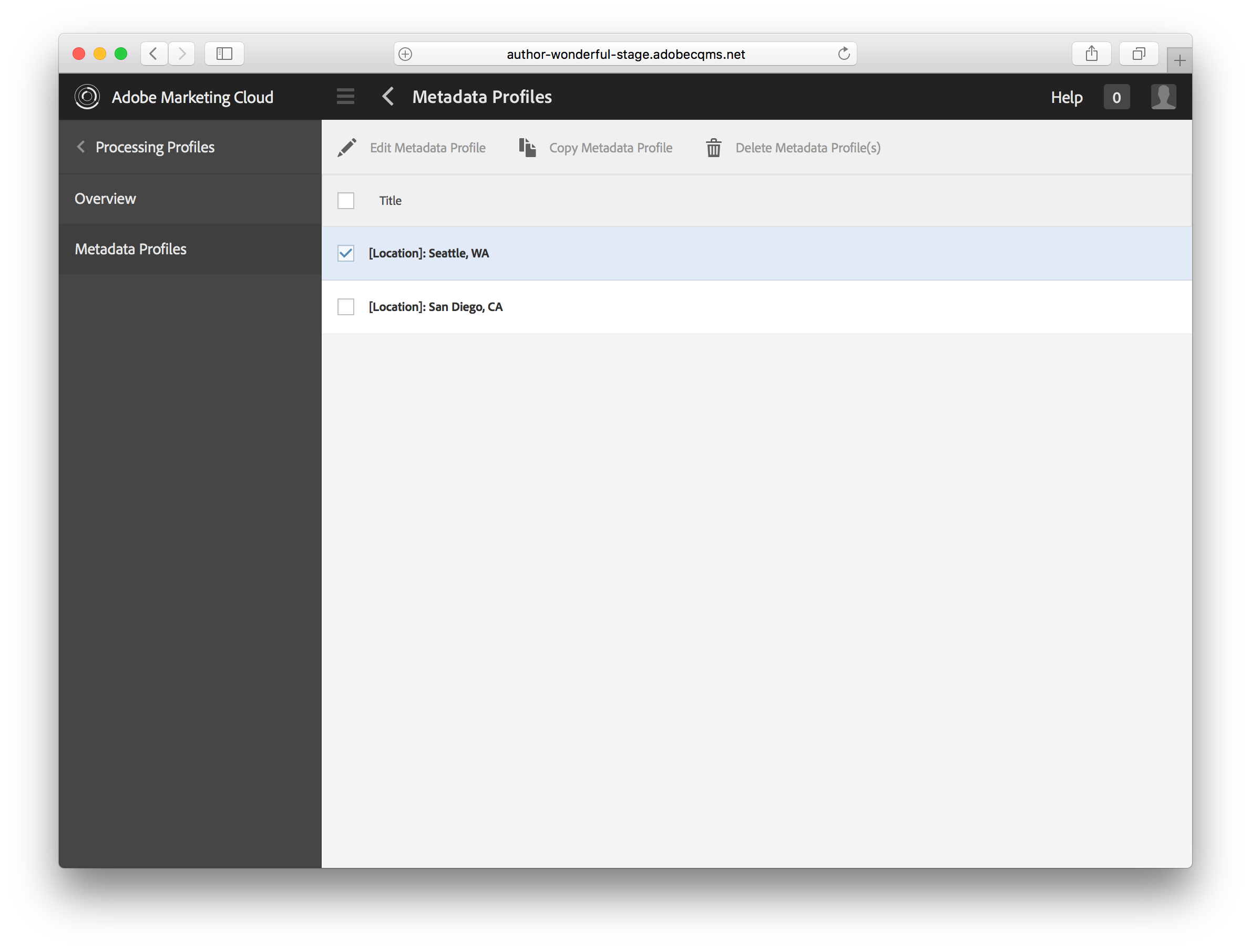Processing Profiles Reduce Manual Input